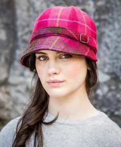 Mucros Flapper Hat - Pink Tartan