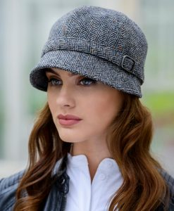 Mucros Flapper Cap - Grey Tweed